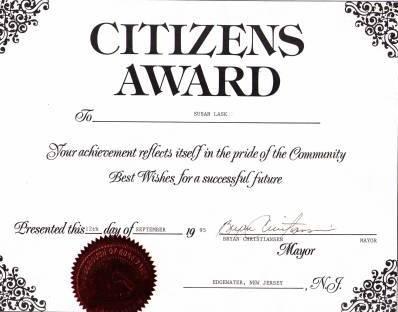 Hero Award Given to Susan Chana Lask