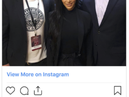Kim Kardashian with Jason Flom