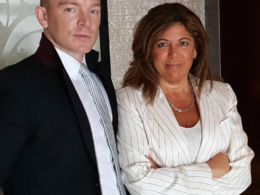 Matthew Christiansen and his attorney, Susan Chana Lask